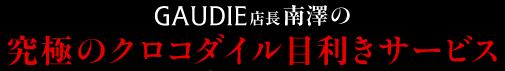 GAUDIE店長南澤の「究極のクロコダイル目利きサービス」