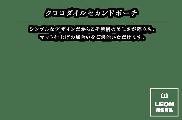 クロコダイルセカンドポーチ[B0614]